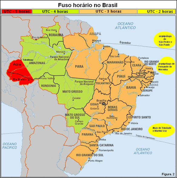Fig 2 - Brazil Time Zone - Uptade